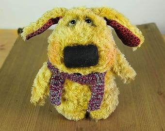 Toy dog Primitive Teddy Dog Christmas gift Animalistic Gifts Teddy Bear friend OOAK