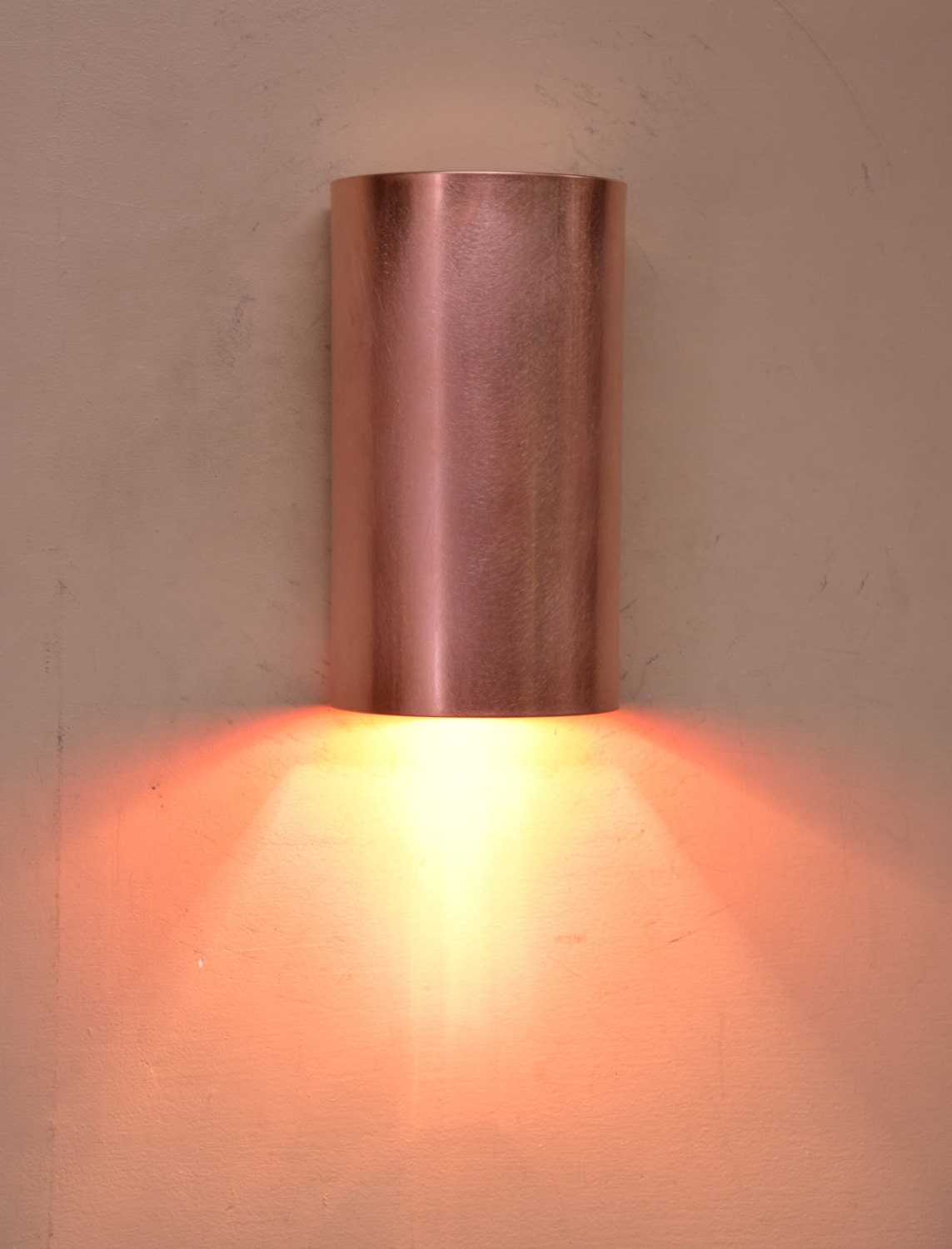 Brass Copper Or Stainless Steel Cylinder Wall Sconce