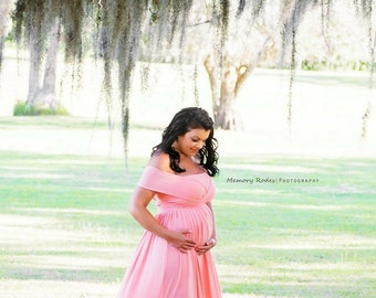 Nice EMBRACE Convertible Maternity, Baby Shower, Bridesmaids, Photo Prop Dress /  Grown Light Pink