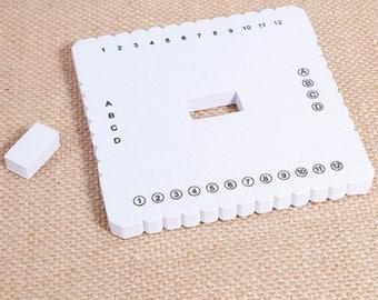 Kumihimo square 10.2 cm for Kumihimo braiding