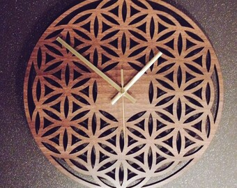 Flower of Life Geometric Clock