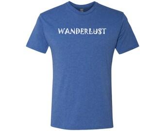 Wanderlust Men's Travel T-Shirt / Camping Shirt / Adventure Shirt / Hiking Shirt / Gym Shirt / Wanderlust Shirt / Graphic Shirt