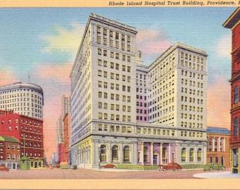 Providence, Rhode Island, Rhode Island Hospital Trust Building - Vintage Postcard - Postcard - Unused (M1)