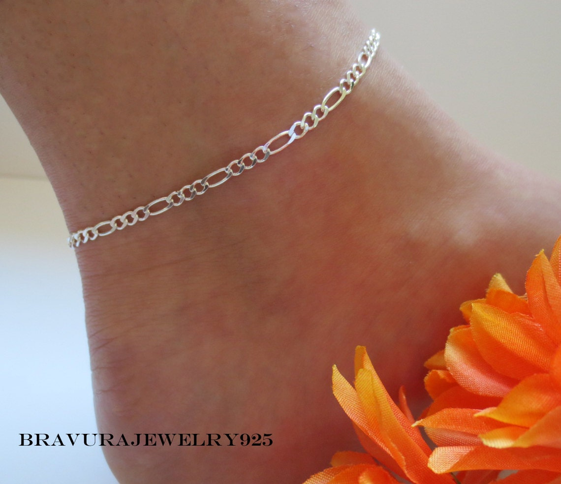 slave fullxfull bell bdsm il silver chain ankle inch anklet fancy sterling locking bracelet little tiny permanently listing