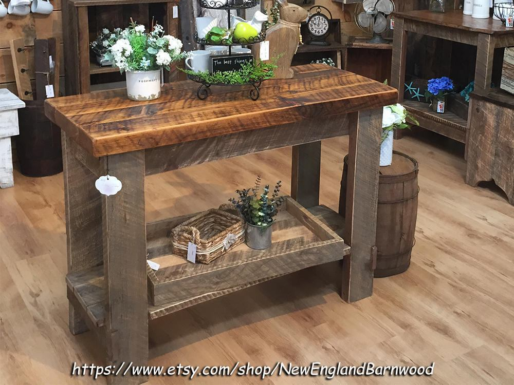 Farmhouse Kitchen Island LOCALPICKUPONLY Rustic Kitchen