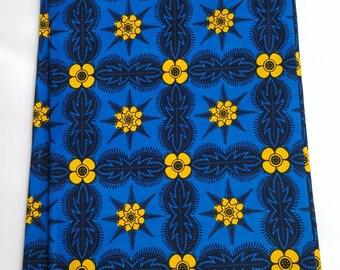 Blue And Yellow Ankara Fabric; African Clothing; African Fabric; African Fabric in yard; African Headwrap;Ankara, Ankara Fabric in yard