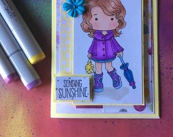 Sending Sunshine Handmade Greeting Card