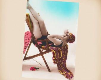 Art Deco Bathing Beauty New 4x6 Vintage Postcard Image Photo Print BB25