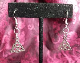 Handmade Triquetra Fishhook Earrings