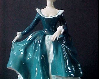 """Royal Doulton Janine HN 2461  7-1/2"""" tall Mint Condition, no chips, scratches, repairs or crazing"""