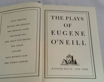 The Plays of Eugene O'Neill Vintage Hardback Book, 1950s, American Plays, The Hairy Ape, The Emperor Jones and more