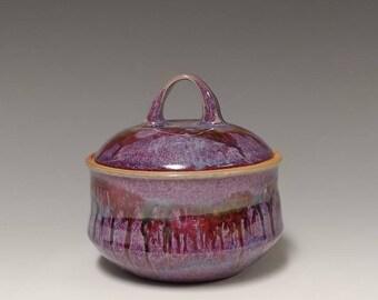 Handmade ceramic lidded jar #1226