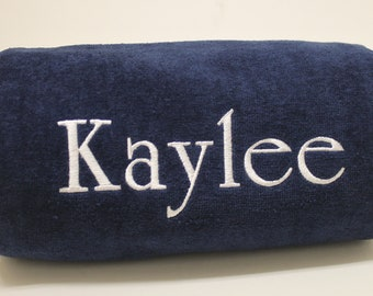 Personalized Name Embroidered Beach Towel