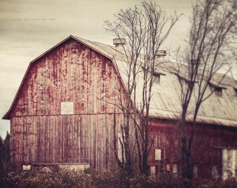 Red Barn Print | Rustic Home Decor | Red Country Decor | Barn Print | Red Barn Print or Canvas Art | Farmhouse Art | Barn Print.