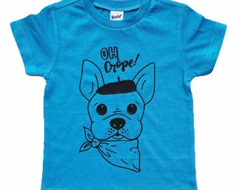 Oh Crepe french bulldog tee for infants, toddlers, children / baby shirt / baby dog shirt / toddler dog shirt
