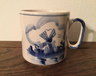 Handpainted DELFT Blue Cup    DELFT Mug / Coffee Cup