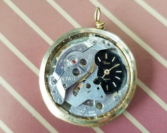 OOAK Steampunk Style Watch Parts Necklace
