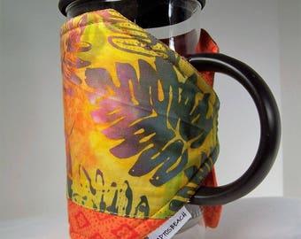 Hawaiian French Press Cozie, Insulated Coffee Pot Cozy, Bodum 8 Cup Press Pot Cosy, Hot Pot Sleeve Cozie
