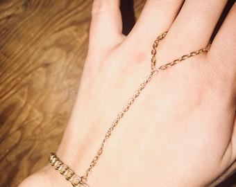 Golden hand chain