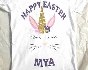 Girls Easter shirt, girl Easter shirt, Easter Bunny shirt, Easter unicorn shirt, Easter outfit, toddler Easter shirt, Easter shirt girls,