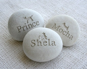 Gift for pet lovers - Companion Stone - Pet tribute on beach pebble by sjEngraving