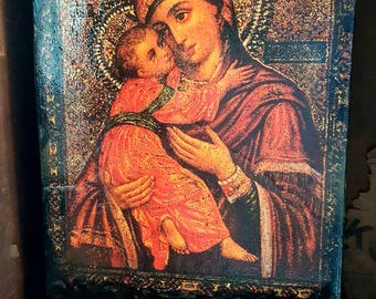 Madonna and Child Wall Tile