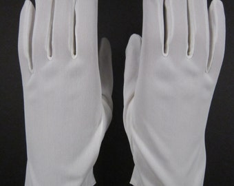 6-6-1/2 - Vintage White Dress Gloves - 8-1/2 inches long (679g)
