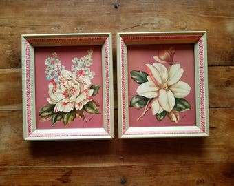 Vintage Framed Floral Print by Rene, Vintage Prints, Floral Prints, Magnolia Prints, Rene Art