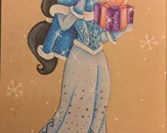 Jasmine Christmas print