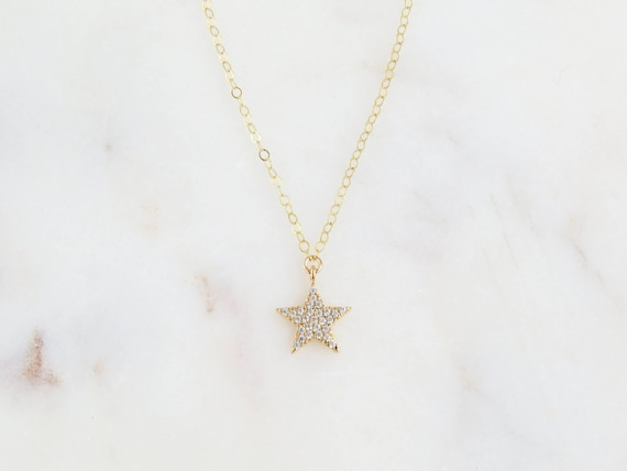 Delicate Star Necklace | Tiny Gold Star Necklace | Gold Star Charm Necklace | Delicate Gold Star | Minimalist Star Necklace | Gift For Her