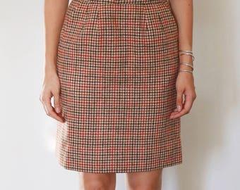 Vintage Wool Tartan Skirt