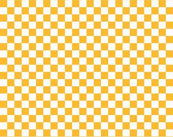 ONLY 4.25  per yard!  Riley Blake Checkerboard in Golden Yellow  C320-110