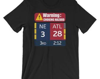 New England Patriots 3 Atlanta Falcons 28 NFL Super Bowl Choking Hazard T-Shirt
