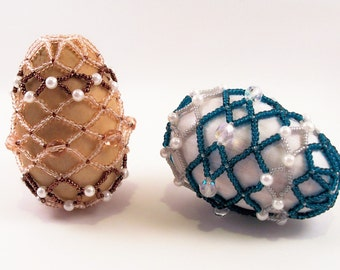 Exquisite Easter Beaded Egg Pattern, Beading Tutorial in PDF
