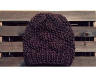 Bulky Etta Hat-Taupe (Ready To Ship)