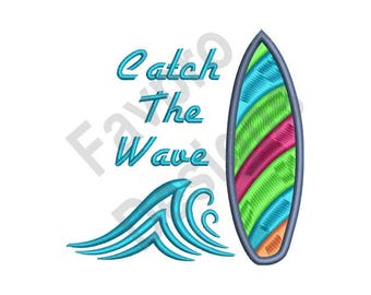 Catch The Wave - Machine Embroidery Design
