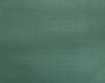 Vintage Sage Green Polished Cotton Fabric by the yard - 36 inches long  x 44.5 inches wide