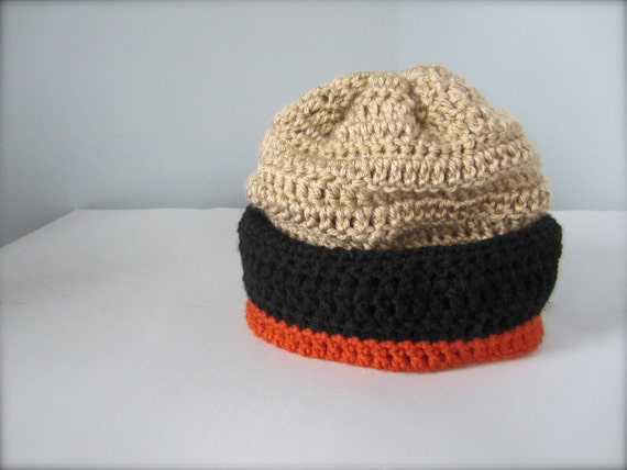 ... sweden crochet black orange and gold nhl hockey football anaheim ducks  colors slouchy hat beanie hat e14064339fb4