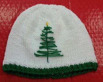 Christmas Hat - Christmas Tree Hat - Christmas Hat with Tree - Kids Christmas Hat - Christmas Baby Hat - Baby Christmas Hat - Adult Xmas Hat