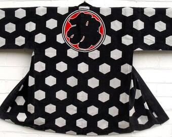 Antique Japanese  indigo Hanten  Jacket  late Meiji or Taisho period.古布 木綿