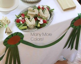 Derby Party, Equestrian Party, Banner, Bunting, Horse Show Ribbon, Run for the Roses Bridal Shower, Pony Party, Kentucky Derby Decorations