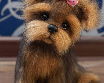 Puppy Carrie Yorkies! Yorkshire Terrier, York toy, Toy, little York, Terrier , dog, plush dog, plush toy, teddy york,