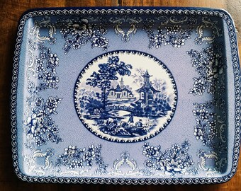 Vintage Jewelry Tray/Ring Dish, Daher Decorated Ware