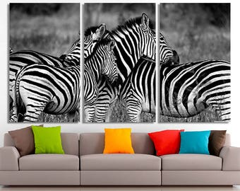 Zebra, Zebra Canvas, Zebra Wall Art, Zebra Wall Decor, Zebra Home Art