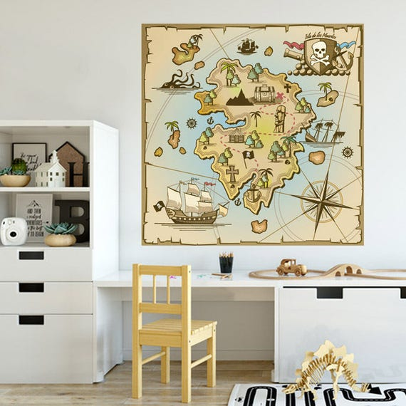 Treasure Map Wall Decals by styleywalls
