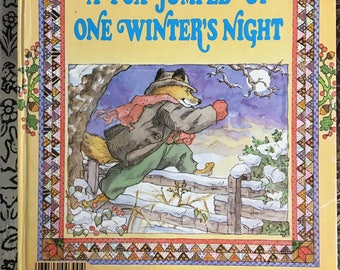 """Fox Jumped Up One Winter's Night a Little Golden Book #300-53 by Nina Barbaresi Copyright 1985  """"C"""" Edition"""