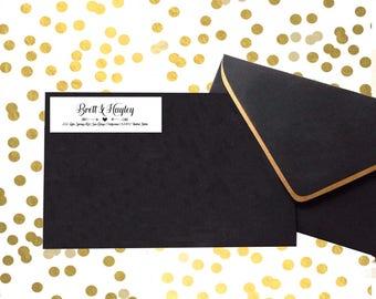 return address label/ address label/ custom address sticker/ wedding label envelope seal/ address sticker/ wedding supplies/return mailing