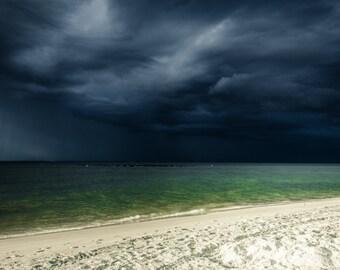 Alabama Photography - Beach - Dauphin Island Storm - Storm Photography - Southern Alabama - Wall Art - Weather - Storm - Mounted Print