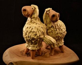 Sheep  clay whistle Pecora fischietto Schaf ton pfeiferl