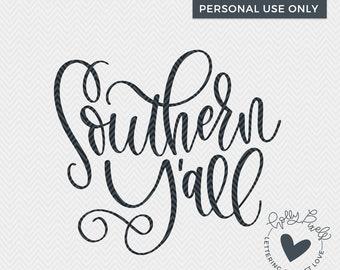 Southern Yall   Yall SVG   Southern SVG   Holly Pixels   Southern Quotes SVG   Southern Phrase svg   Farmhouse svg   Farm House svg
